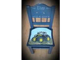 Barnestol m/grønn traktor